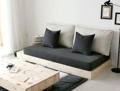 42 Good Relaxing Apartment In Kiev By B Group Diy Daybed, Diy Sofa, Minimalist Bed, Minimalist Furniture, Sofa Furniture, Furniture Design, Sofa Design, Interior Design, Floor Seating