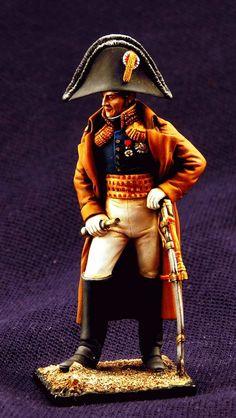 Французский дивизионный генерал в пальто - 1812  ММС
