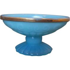 Avon Bristol Blue Milk Glass Oval Soap Dish