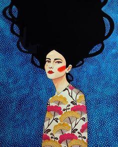 Por amor al arte: Hülya Özdemir Art And Illustration, Arte Pop, Art Plastique, Lovers Art, Female Art, Art Inspo, Illustrators, Pop Art, Art Drawings