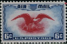 US Air Mail Postage Stamps