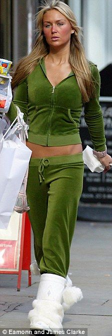 0fb4b9dcc2 Helen Flanagan jumps into a regulation WAG velour tracksuit. Juicy  TracksuitJuicy Couture ...