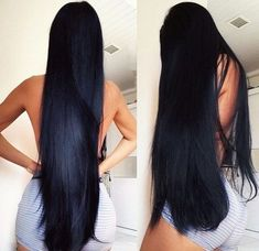 Long black hair care tips in hindi get long hair grow hair naturally for women fast - Long Hair Growth Tips Weave Hairstyles, Pretty Hairstyles, Straight Hairstyles, Long Haircuts, Long Dark Hair, Very Long Hair, Beautiful Long Hair, Gorgeous Hair, Human Hair Extensions
