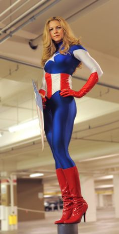 Sexy Cosplay Captain America Girl and USO Girls Captain America Cosplay, Belle Cosplay, Cosplay Girls, Marvel Cosplay, Cosplay Anime, Superhero Cosplay, Super Heroine, America Girl, America Outfit