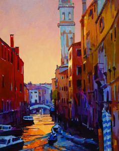 Sunset in Venice, by Mike Svob