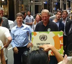 Al Gore at The #climatemarch /// Obama couldn't attend because he was busy continuing the war to ensure western corporations kept control of Iraqi oil reserves and Hillary was busy accepting campaign contributions from Goldman Sachs.