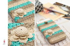 Smart phone crochet covers vintage - fabulous inspiration - annabeliahandmade.blogspot.com