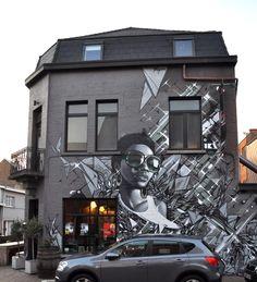 smates in hombeek, belgium Graffiti Art, Urban Graffiti, African American Artwork, Hip Hop Art, Best Street Art, Arte Popular, Chalk Art, Street Artists, Public Art
