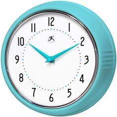 Infinity Instruments Retro Turquoise Clock