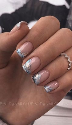 pink nails with marble effect, short nails, acrylic nail design, nail art design, nail ideas #nailart #naildesigns Chic Nails, Classy Nails, Stylish Nails, Swag Nails, Cute Nail Art Designs, Acrylic Nail Designs, Summer Nail Designs, Unique Nail Designs, Line Nail Designs