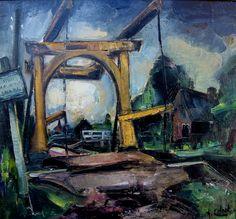 AJG (Arnout) Colnot (1887-1983) - The Drawbridge at Kortenhoef (with Kortenhoefsedijk), 1915-20