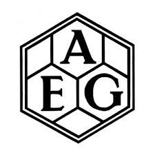 Peter Behrens. AEG trademark. 1907. The new mark was consistently applied to buildings, stationary, products, and graphics.