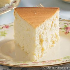 Tall and Creamy New York Cheesecake | Art and the Kitchen No Bake Desserts, Just Desserts, Delicious Desserts, Dessert Recipes, Yummy Food, Cake Boss Recipes, Easter Recipes, Creamy New York Cheesecake Recipe, Crustless Cheesecake Recipe