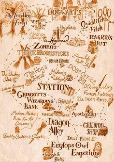 Hogwarts x Hogsmeade x Diagon Alley