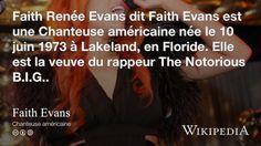 """""""Faith Evans"""" on @Wikipedia:"""