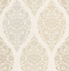 Loriana  Chartreuse (1612/159) - Prestigious Wallpapers - A wallpaper design with an all over damask motif in various colours. Shown here in various shades of chartreuse beige, sand and grey. Other colourways are available. Please request a sample for a true colour match. Paste-the-wall product.