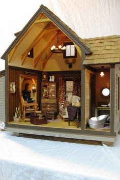 Unique Dollhouses and Custom made miniature roomboxes