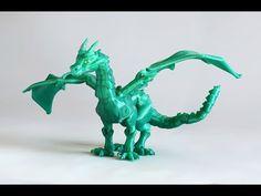 BraQ Dragón Articulado 3d impreso - YouTube