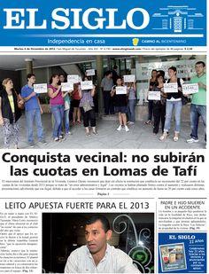 Diario El Siglo - Martes 4 de Diciembre de 20 12