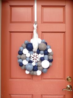 Yarn Ball Wreath.