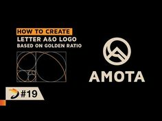 How to create letter A & O logo based on golden ratio | Illustrator Tutorial - YouTube