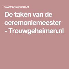De taken van de ceremoniemeester - Trouwgeheimen.nl