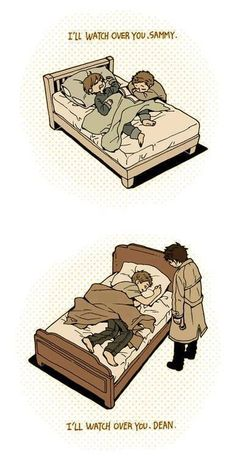 I guess this means that Castiel's been around since Dean and Sam were kids. Really adorable.