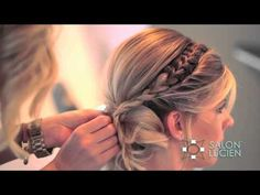 (3) Unique Up Style How To by Christen Swearengin of SALON LUCIEN - YouTube