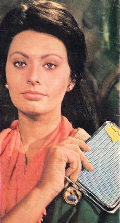 "Italian actress Sophia Loren. Pinup from ""Cinema"" magazine (April 1969)"