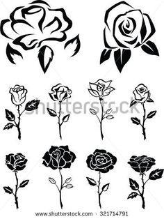 rose with thorns drawing - Google Search