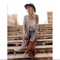 Amilita X Gypsy Lovin Light Hendrix Jacket Crochet Knit White Lace