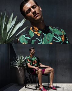 Fashion photographer Maurizio Montani updates the portfolio of Gilberto Fritsch with a striking new session. Gilberto is represented by FLY MODELS mgt. Tropical Outfit, Tropical Fashion, Photography Poses For Men, Portrait Photography, Fashion Photography, Carmen Miranda, Men Photoshoot, Street Portrait, Portfolio Images