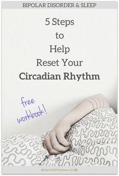 Free Workbook: 5 Steps to Help Reset Your Circadian Rhythm by theSUNNYshadow.com