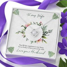 To My Wife Celtic Love Knot Necklace