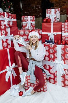 Gigi Hadid at holiday celebration hosted by Reebok on December 14, 2017 in New York City.