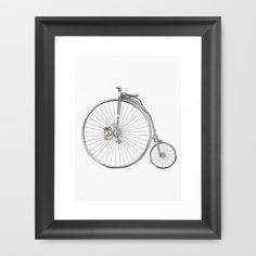 Bicycle Framed Art Print by Michelle Krasny - $34.00