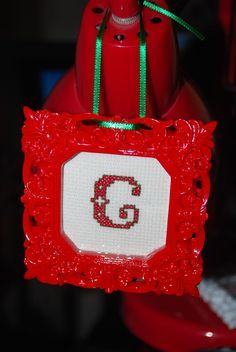 cross stitched christmas ornament 1 frame from michaels