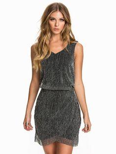 Vijanari Detail Dress - Vila - Lys Grå - Festkjoler - Tøj - Kvinde - Nelly.com