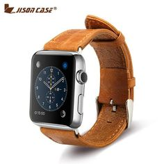 Shop the beautiful Apple Watch leather band and change up your look now. Brown color.