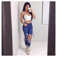 "9,069 Likes, 82 Comments - Maria Palafox | Official IG (@mpalafox15) on Instagram: ""Last nights outfit ✨ Top: @sugarvenom_la Code: MARIALOVE Jeans: @fashionnova Code: XOXOMARIA…"""