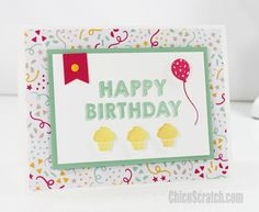 2016  It's my Party Birthday Card  Click here to download the Printable.
