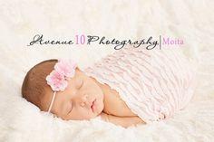 Light Pink Mini Ruffle Fabric Stretch Wrap Newborn Baby Girls Photography Props Ready to Ship