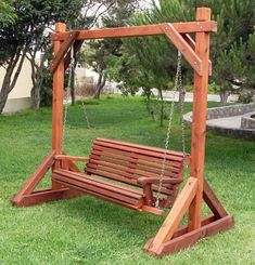 Patio yard garden on pinterest bench swing swings and for Victorian porch swing plans