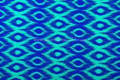 Abstract Print Spandex (Royal/Jade)