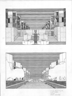 One Architecture Student: Spring 2008 Arch 1242 - Salk Institute Rendering