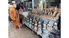"""I love Bangkok's main amulet market, it is the source for all manner of charms to bring you luck and ward off evil, from carved Buddha's to intricately wrapped stones, rings and bracelets. You have to go early before the river floods all the stalls."