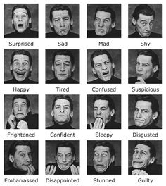 The Master of Expression: The Many Faces of Jim Varney – Photo Funny Pose Reference Photo, Art Reference Poses, Jim Varney, Facial Expressions Drawing, Expression Sheet, Emotion Faces, Expressions Photography, Human Reference, Anatomy Reference