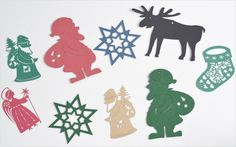 paper cutout ornament 切り絵のクリスマスオーナメント(ドイツ製) Handmade Christmas Crafts, Christmas Ideas, Xmas, Paper Art, Moose Art, Seasons, Animals, Papercutting, Noel