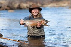 Rainbow Trout caught on the Animas River, Durango, Colorado // Ginger Moose Photography Fly Fishing Girls, Fishing Uk, Fishing Life, Kayak Fishing, Fishing Boats, Women Fishing, Rainbow Trout, Hunting Season, Saltwater Fishing