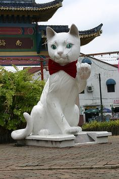 """the City of Kuching, which means """"Cat City"""" in Malay,"""